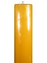 100% beeswax pillar candle 36 inch by three inch