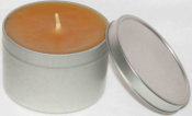 100% pure beeswax candle travel / emergency tin 8 oz