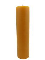Beeswax refill pillar for glass jar