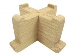 Wooden Display for your Favorite Glass Votive or Large Tea Light Holder