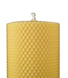 4.5 x 3 pure beeswax honeycomb pillar candle