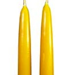 Hand dipped large 100% beeswax tapers 24 inches by one inch