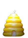 100% beeswax medium beehive candle