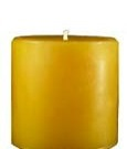 100% pure beeswax 3 x 3 round pillar candle
