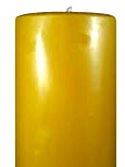 100% beeswax pillar candle nine inch by four inch