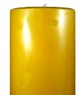 100% beeswax pillar candle six inch by four inch