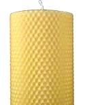 100% Pure beeswax honeycomb pillar candle 8 inch by 3 inch