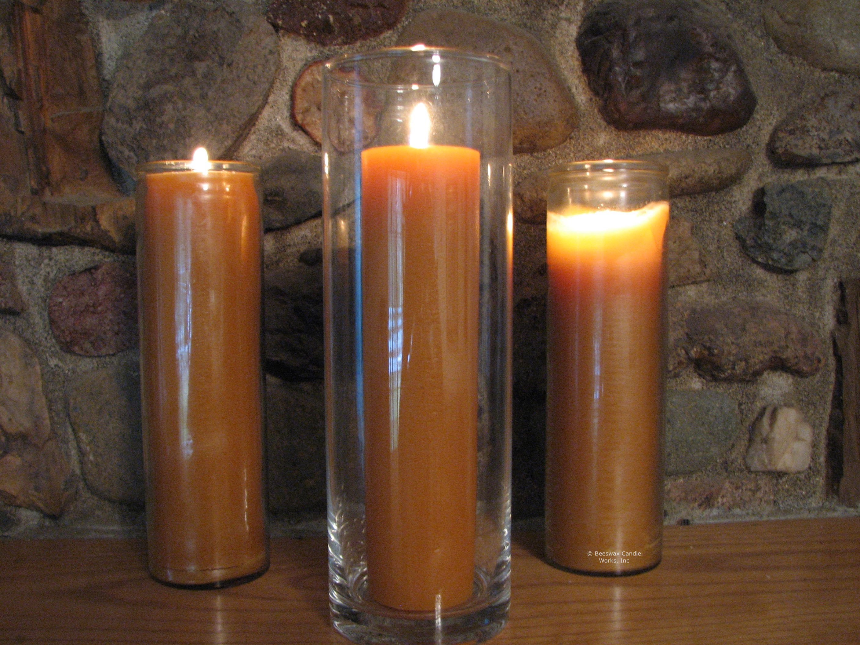 Beeswax jar candles